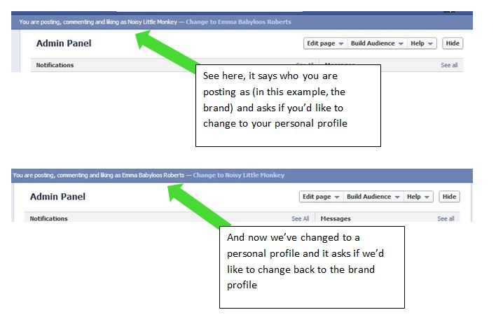 swapping accounts on Facebook