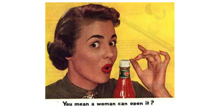 vintage picture parody on feminism