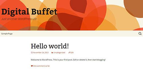 WordPress Launch Page