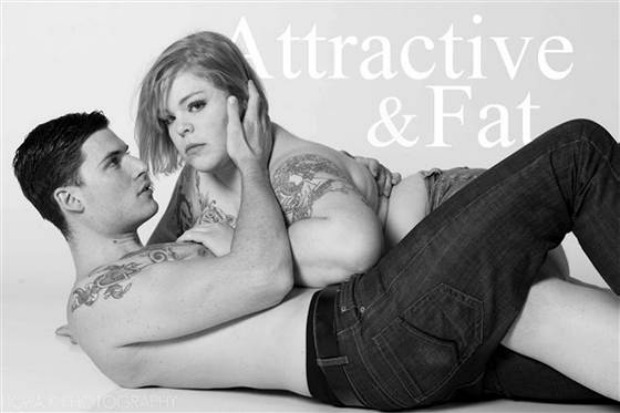 A parody image of traditional Abercrombie campaigns but the female model is plus sized