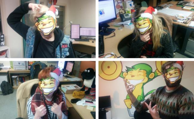 Monkeys in masks