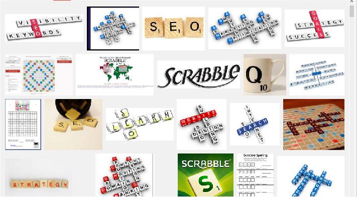 SEO Scrabble SERP