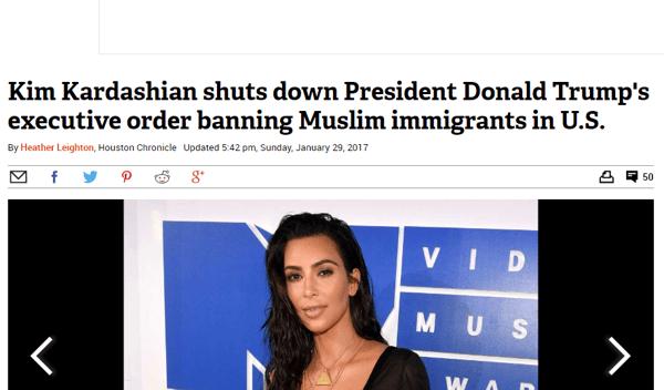 kim kardashian clickbait headline