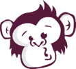Asset 3Purple - Monkey Logo White Outline
