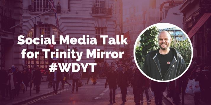 jon payne social media talk for trinity mirror