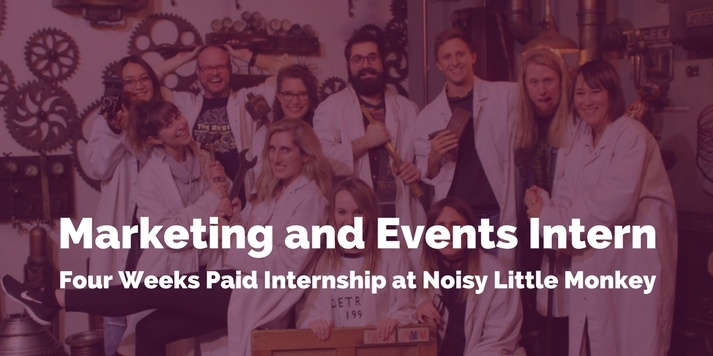 Marketing and Events Intern: Four Weeks Paid Internship at Noisy Little Monkey