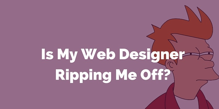 is my web designer ripping me off