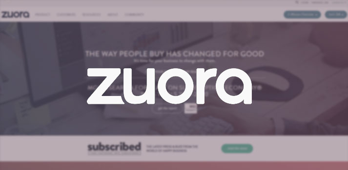 zuora website homepage