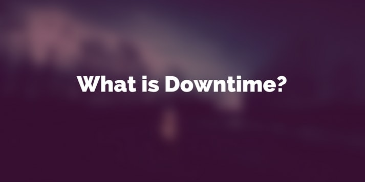 What is downtime featured image