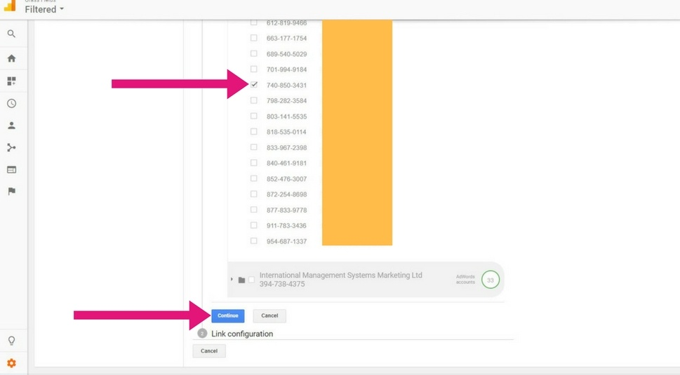 Linking Adwords and Analytics. Step 4