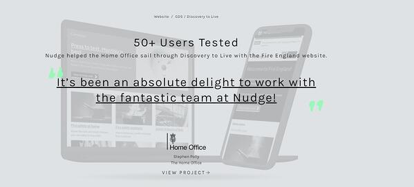 Nudge Digital example