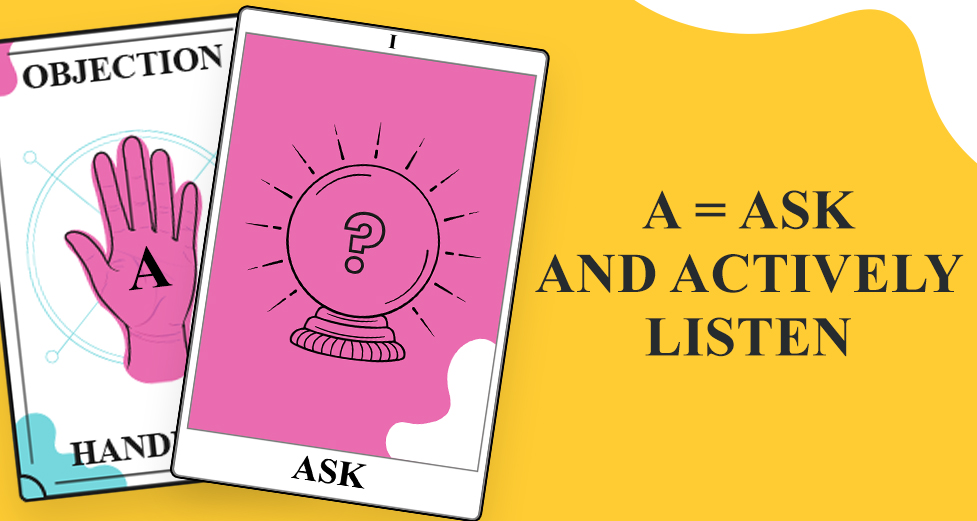 A = Ask and actively listen