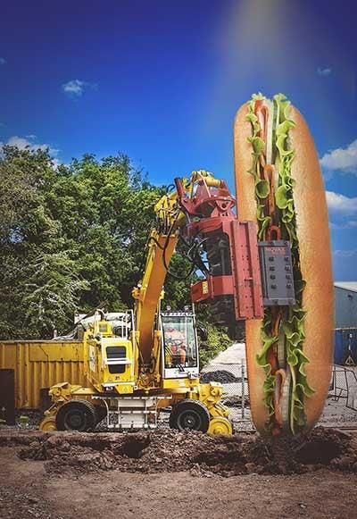 Colmar T10000 piling in a baguette sandwich
