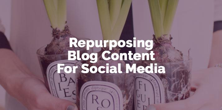 repurposing blog content for social