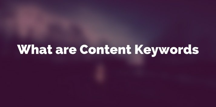 what are content keywords features image