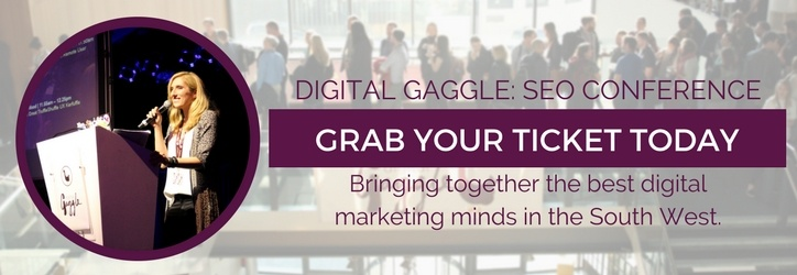 An example of a CTA encouraging web visitors to buy a Digital Gaggle ticket