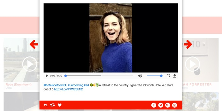 Video of Kara Tointon #Unrooming for hotels.com