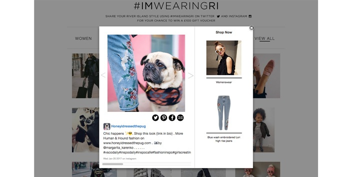 River Island User-Generated Content Example