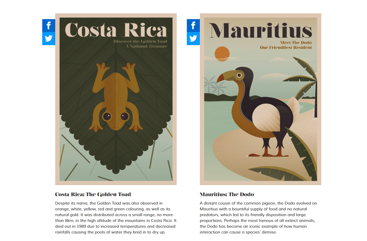 Poster campaigns which Verve Search worked on for Expedia's Unknown Tourism project.