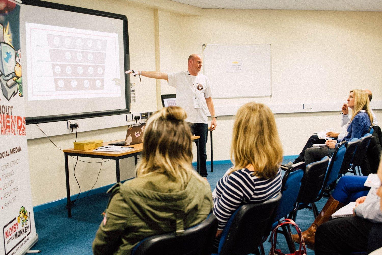 Jon presenting at Bath Digital Festival 2017