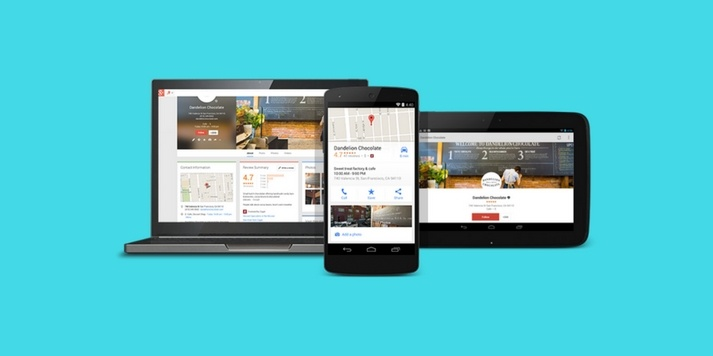 Google My Business, on a tablet, laptop and mobile device