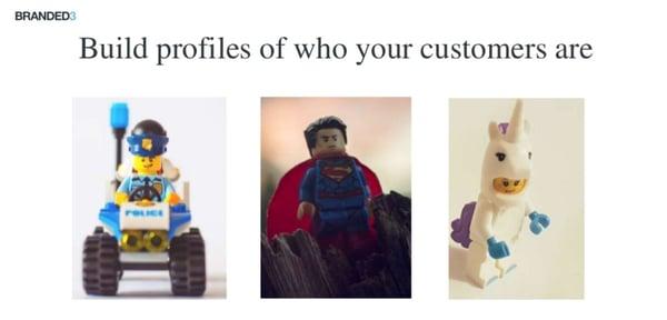 Image showing lego figures illustrating 'customer personas'
