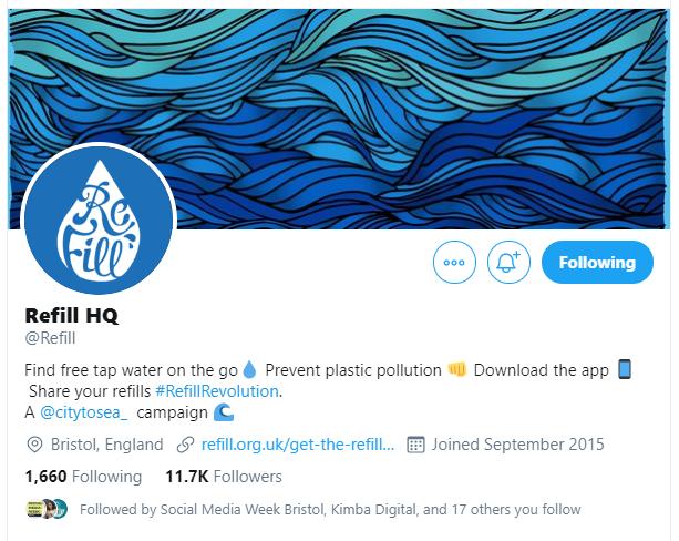 Refill Twitter profile