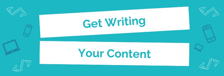 Get Writing Your Content: Header Image