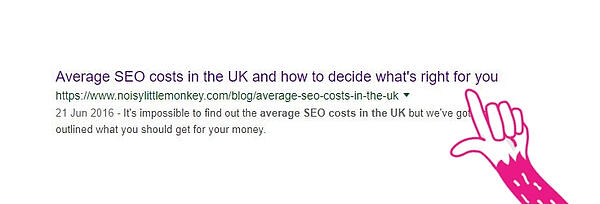 Screenshot of the page title on the SERP