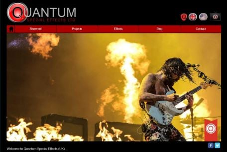 Quantum SFX Before image of the website