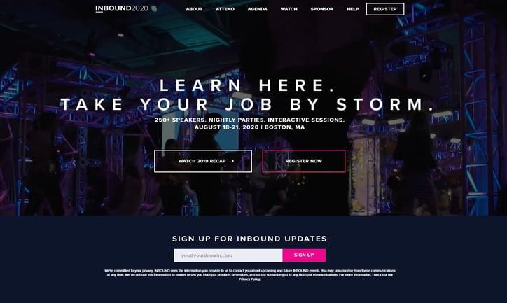 screenshot of INBOUND