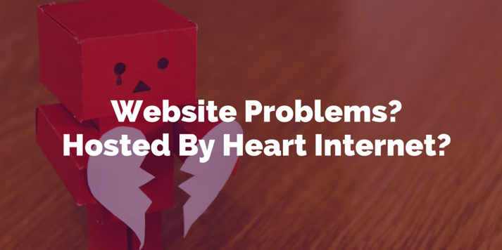 website problems hosted by heart internet