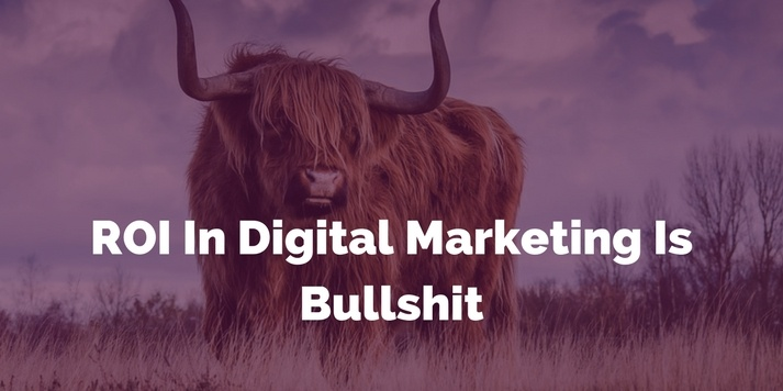 Why ROI In Digital Marketing Is Bullshit